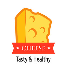 cheese logotype - style vector image