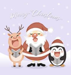 christmas carol greeting card vector image