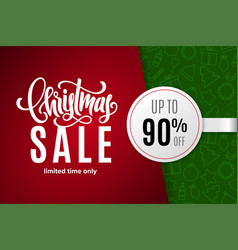 christmas holiday sale 90 percent off vector image