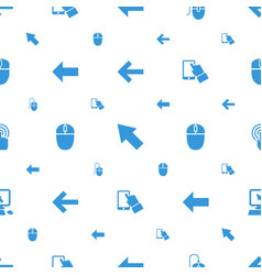 Click icons pattern seamless white background vector