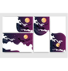 cool helloween banners for web and print flayers vector image