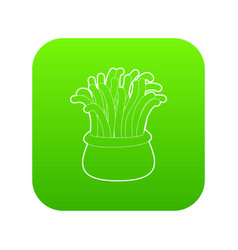 coral icon green vector image