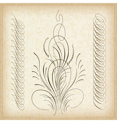 Decorative caligraphy border vector
