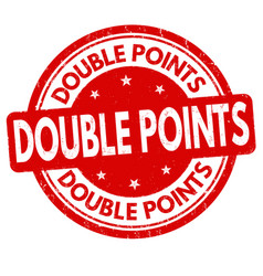 Double points grunge rubber stamp vector