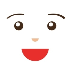 face emoticons smile white vector image
