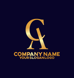 fancy logos letter a and c 03 vector image