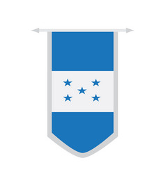 flag of honduras on a banner vector image