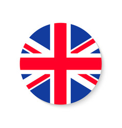 flag uk round union jack british icon circle vector image