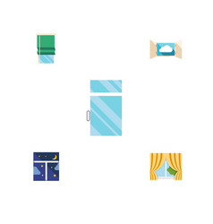 Flat icon frame set of frame glass frame clean vector