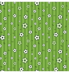 Football seamless pattern with soccer ball vector