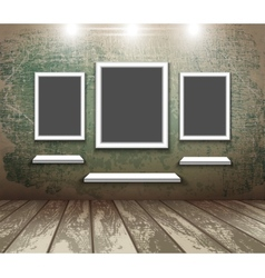 Frame in an empty room vector