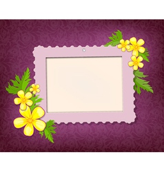 garden frame vector image vector image