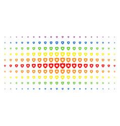 guard spectral halftone grid vector image