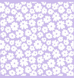 hand drawn seamless with simple white daisy vector image