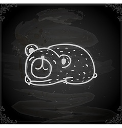 Hand Drawn Sleeping Bear vector image