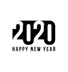 happy new year 2020 text design patter vector image