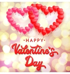 Happy Valentines day 3d lettering inscription vector