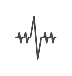 heartbeat icon line cardio heart diagnosis vector image