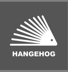 hedgehog sign design on dark background vector image