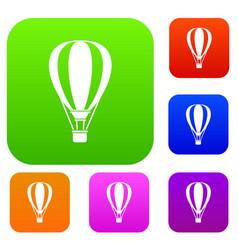 hot air ballon set collection vector image