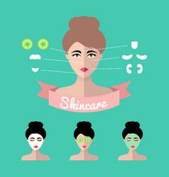 Infographics set women icons vector
