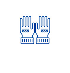 leather gloves line icon concept leather gloves vector image