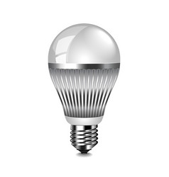Led light bulb isolated on white vector