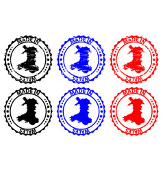 made in wales rubber stamp vector image
