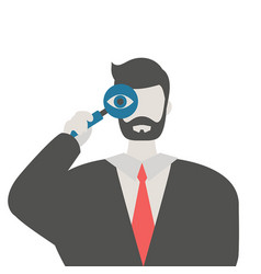 man with a magnifying glass man with a magnifying vector image