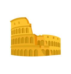Medieval coliseum rome architecture design vector