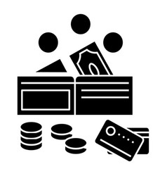 money icon sign on isolate vector image