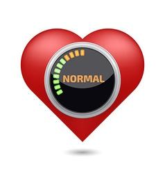 Normal blood pressure digital concept vector