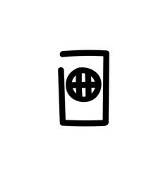 passport icon hand drawn line symbol vector image