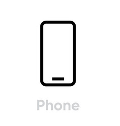 phone flat icon editable outline vector image