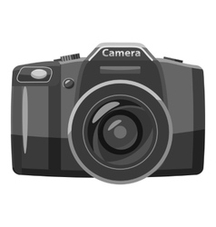 Photo camera icon gray monochrome style vector