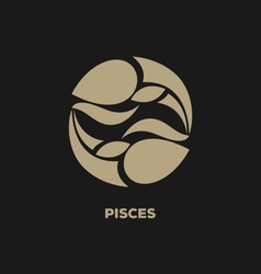 Pisces Horoscope Icon vector