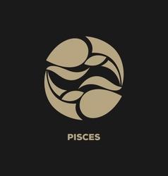 Pisces horoscope icon vector