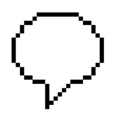 pixel speech bubble vector image