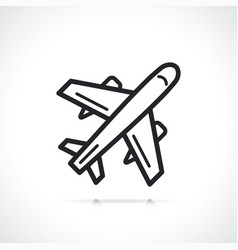 Plane or airplane line icon vector
