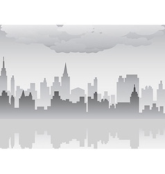 Pollution city vector