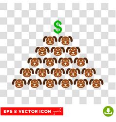 Puppycoin pyramid scheme eps icon vector