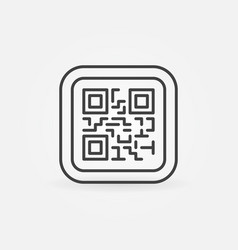 Qr code modern icon or symbol vector