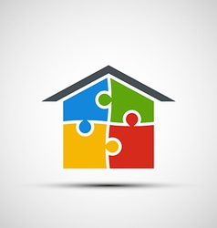 real estate in the form of puzzles vector image
