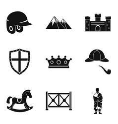 Rider icons set simple style vector