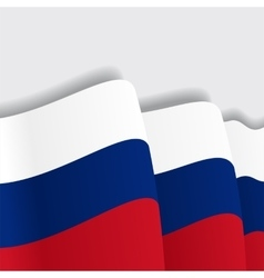 Russian waving Flag vector