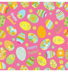 Seamless multicolored pattern of Easter eggs vector image vector image