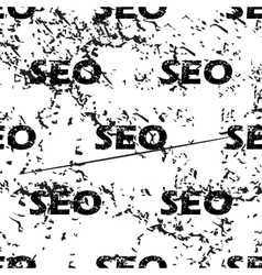 SEO pattern grunge monochrome vector image
