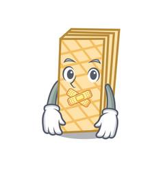 Silent waffle mascot cartoon style vector