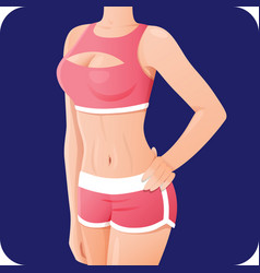 slender sporty woman fitness girl in sportswear vector image