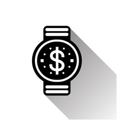 smart watch dollar sign icon mobile banking and vector image
